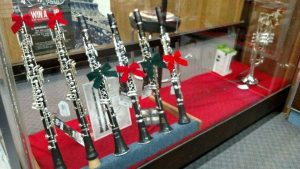 Clarinets in case