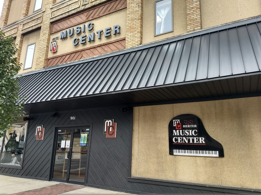 Street view of Herter Music Center