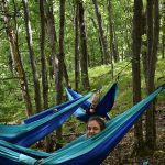 Campers in hammocks