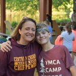 Camper and counselor