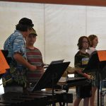 Youth band camp practicing