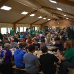 Campers eating in cafeteria