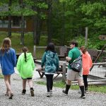 Campers walking