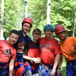 Group picture in zipline gear