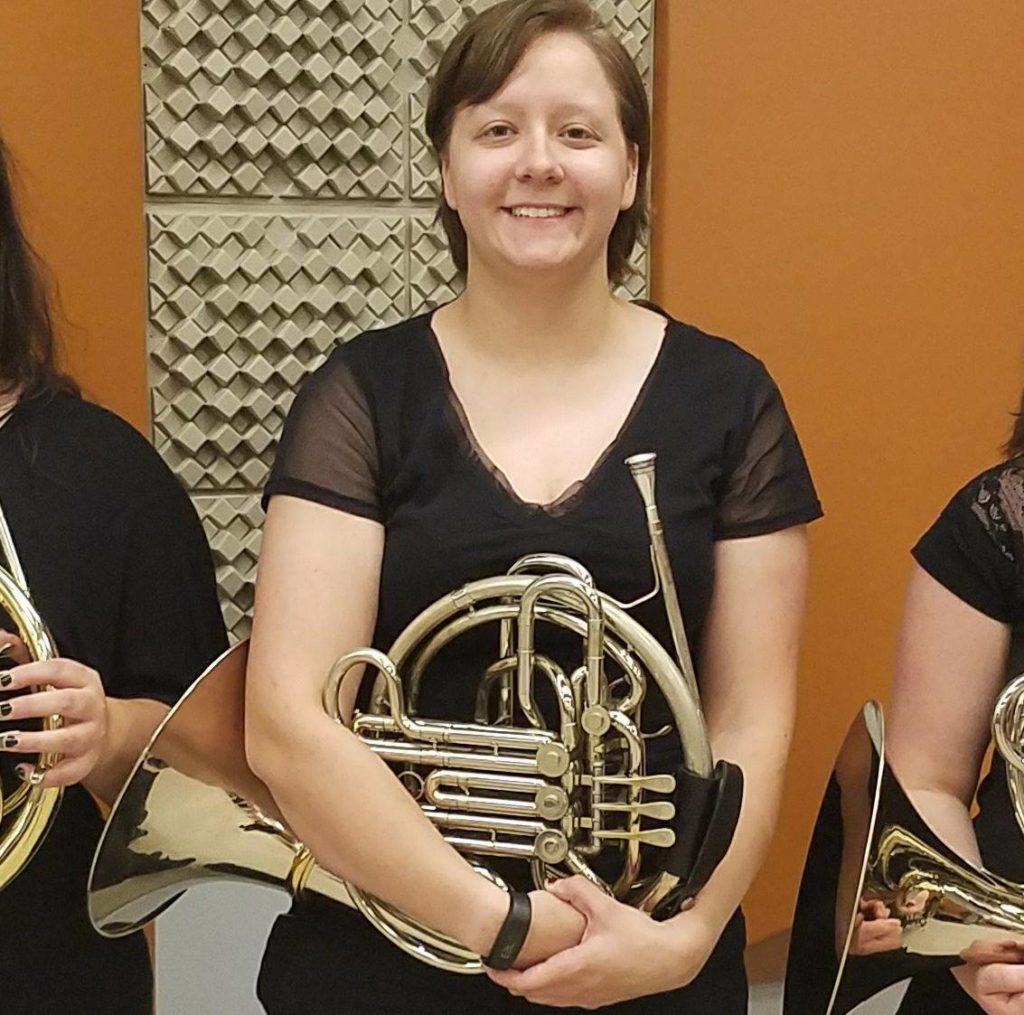 Heather Britt with french horn