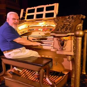 Howard Harmon playing the organ